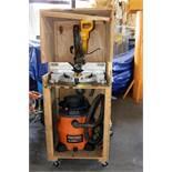 "LOT CONSISTING OF: Dewalt 12"" miter saw, Dayton Mdl. 3AA28B dust collection system, Ridgid blower"