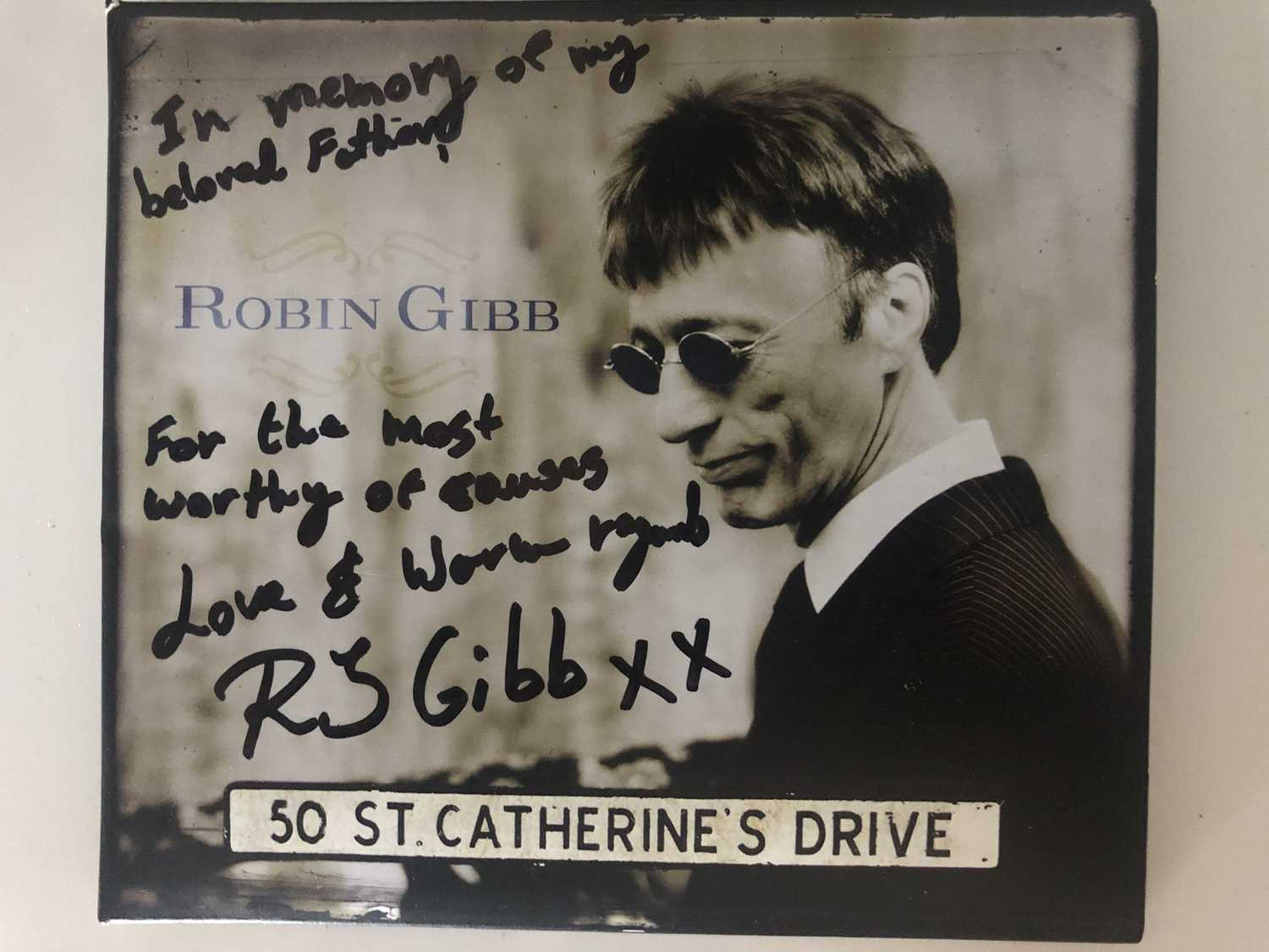 Robin Gibb (The Bee Gees) glasses Robin's son RJ has donated to this amazing cause his fathers - Image 7 of 10