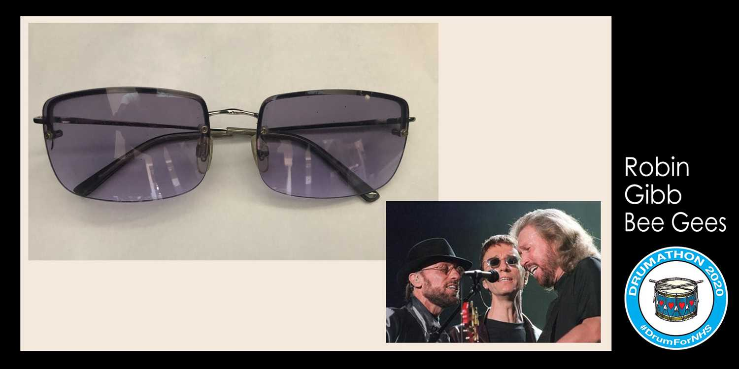 Robin Gibb (The Bee Gees) glasses Robin's son RJ has donated to this amazing cause his fathers