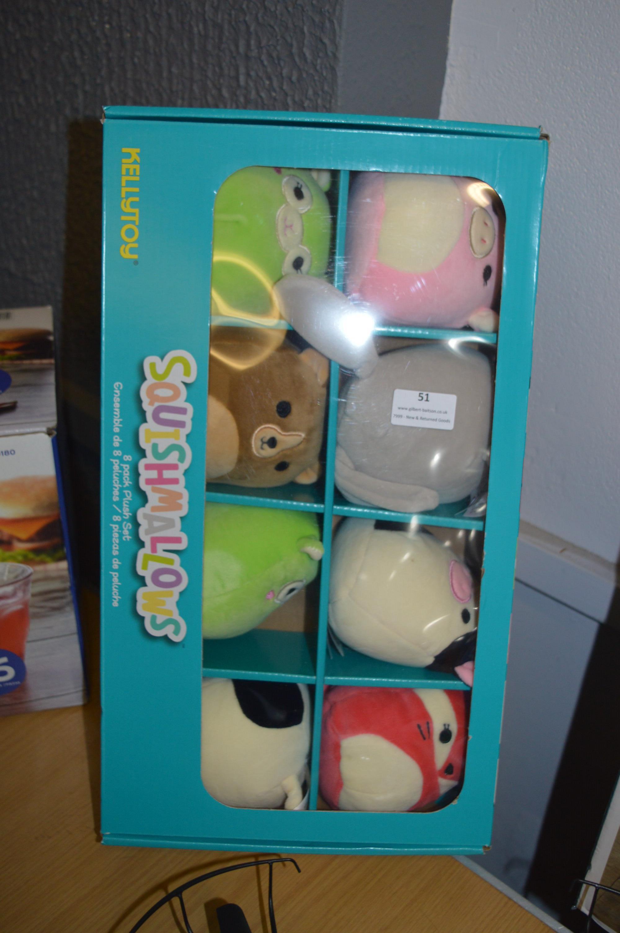 Lot 51 - *Squishmallows Plush Toys 8pk