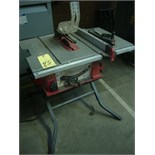 "TILTING ARBOR TABLE SAW, SKILSAW 10"",  120 v."