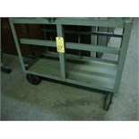 "PORTABLE STEEL CART, 24"" x 48"", H.D. (may not be taken until tooling has been removed)"