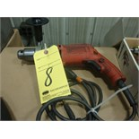 "ELECTRIC DRILL, MILWAUKEE 3/8"", H.D."