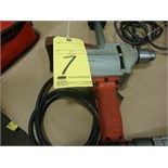 "ELECTRIC DRILL, MILWAUKEE 1/2"", H.D., 450 RPM, 120 v."