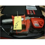 CORDLESS GREASE GUN, MILWAUKEE M12, w/charger & case