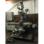 "VERTICAL TURRET MILL, LAGUN ""DELUXE"", 11"" x 58"" table, 3-axis pwr. feeds, variable spd. spdl.,"