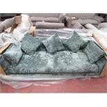 Swoon Sample 3 Seater (2 cushion) Emerald green Velour style Sofa