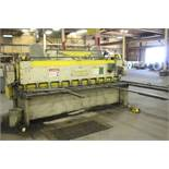 """CINCINNATI 3/16""""X10' MODEL 1410 SHEAR, S/N 31844, WITH 36"""" FRONT OPERATED POWER BACK GAUGE, 8'"""