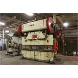 DREIS & KRUMP 275 TON MODEL 275-D-8 PRESS BRAKE, S/N 9520, 10' OVERALL LENGTH OF BED, LOWER DIE