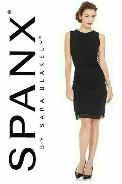 Lot 582 - Spanx Star Power Bold Black Draped Dress size M (12/14) RRP £35.99 on Amazon new with tag &