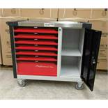 + VAT Brand New Seven Drawer Locking Garage Tool Cabinet With Seven Drawers - Six Drawers Contain