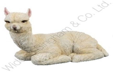 Lot 319 - Lot to Contain 5 Brand New Nature Craft Llama 19cm Seated Llama Resin Figurines Combined RRP £100 (