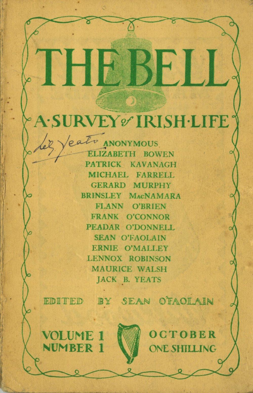 Property of Lily Yeats O'Faolain (Sean)ed. The Bell. a Survey of Irish Life, Vol. I No. 1 - vol.