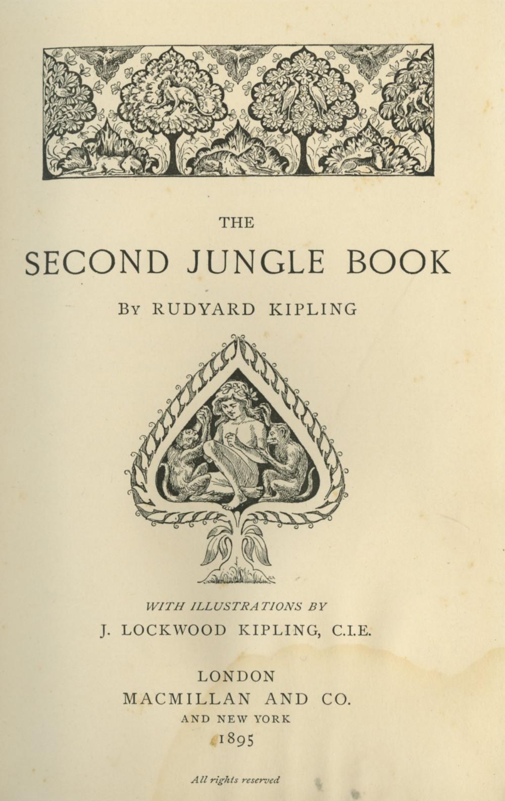 Kipling (R.) The Jungle Book, 8vo L. (Mac Millan & Co.