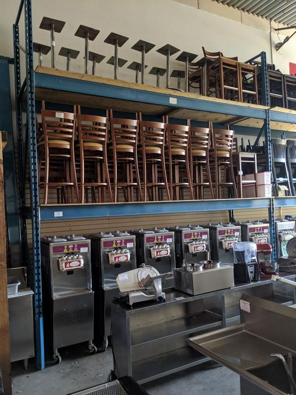 """Lot 45 - Double Section Pallet Racking - with 12 - 7"""" High Cross Bars. Approx. 13 ft long with plywood"""