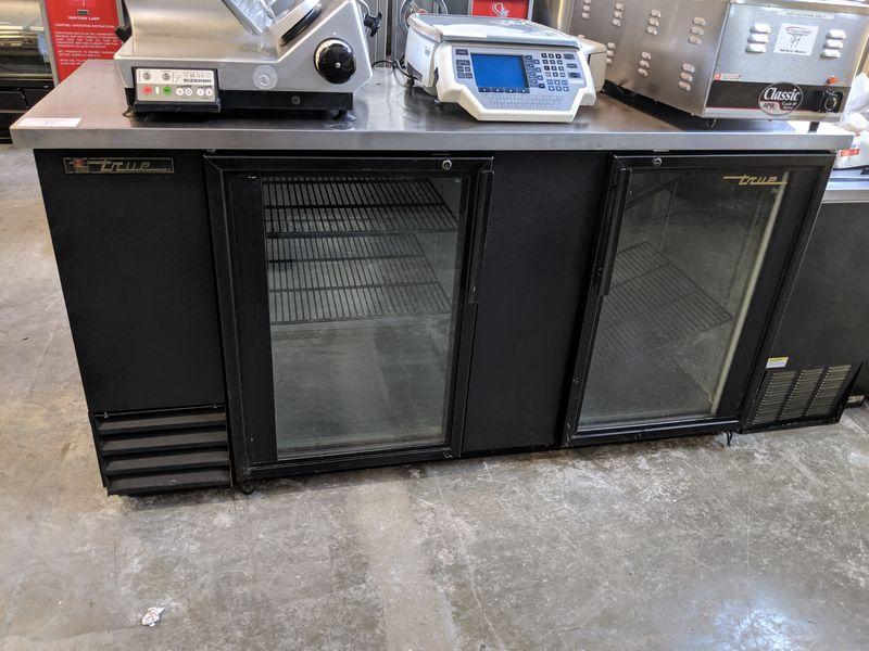 """69"""" True 2 Door Refrigerated Back Bar"""