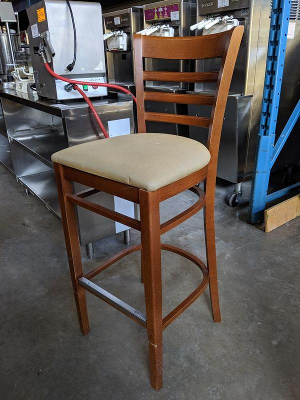 Lot 23 - 10 Bentwood Bar Stools with Padded Seats - Price Each times 10