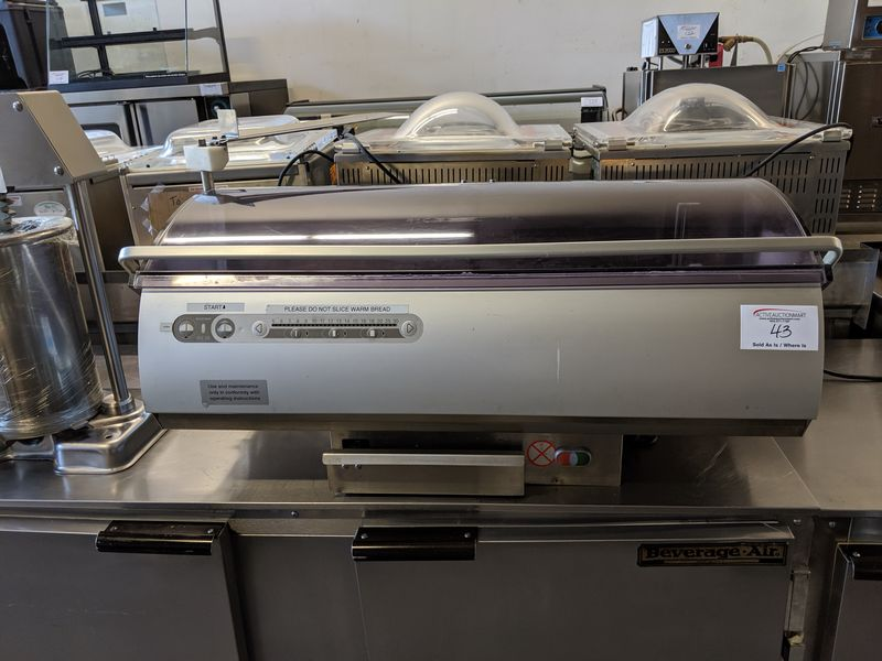 Lot 43 - Bizerba Model BRS38 Counter Top Bread Slicer