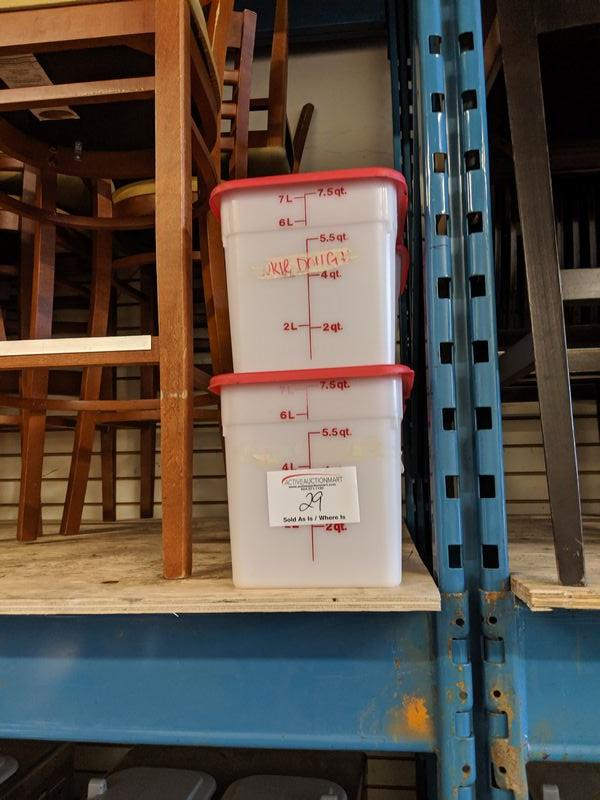 Lot 29 - 6 Square 7.5 Quart Storage Bins
