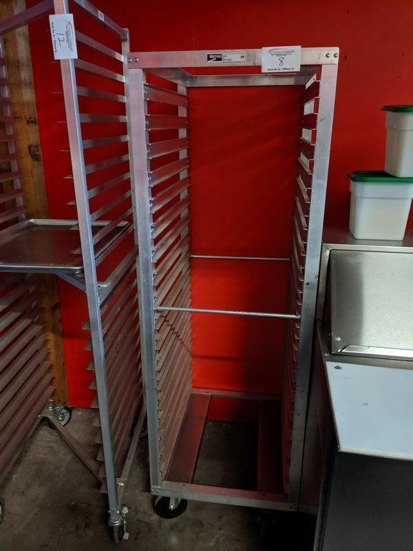Lot 8 - Aluminum Metro Tray Trolley