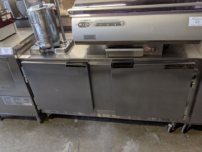 "Lot 38 - Beverage Air 60"" Undercounter Cooler"