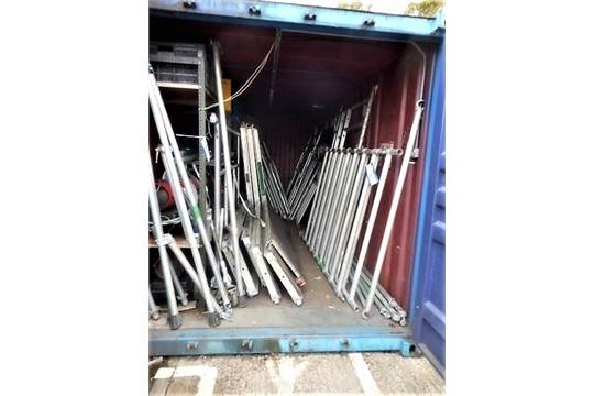 Quantity of BetaGuard Alloy Scaffold Tower Sections and Platforms (inside  Container)