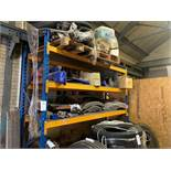 Bay of heavy duty racking 2 x 3m uprights 900mm depth 8 x 3m cross sections NB excludes contents
