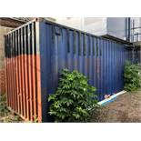 40' x 8' shipping container c/w contents NB A work Method Statement and Risk Assessment must be