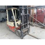Nissan 1800Kg side shift forklift truck s/n FJO1E700355 SUK 230117 (DOM 1998) hours 11588 * Note