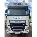 DAF XF510 Euro 6 6x2 44,000Kg tractor unit twin berth Registation No. GN65 NFO 550,941 recorded km