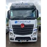 Mercedes Actros Euro 6 2545 6x2 44,000Kg tractor unit single berth Registration No. GN14 WPT 711,963