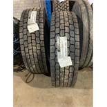 Two unused Hankook Smart Flex DH31 lorry tyres 295/80R 22.5 16PR