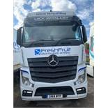 Mercedes Actros Euro 6 2545 blue TRC 6 single berth 44,000Kg tractor unit Registration No. GN14 WPP