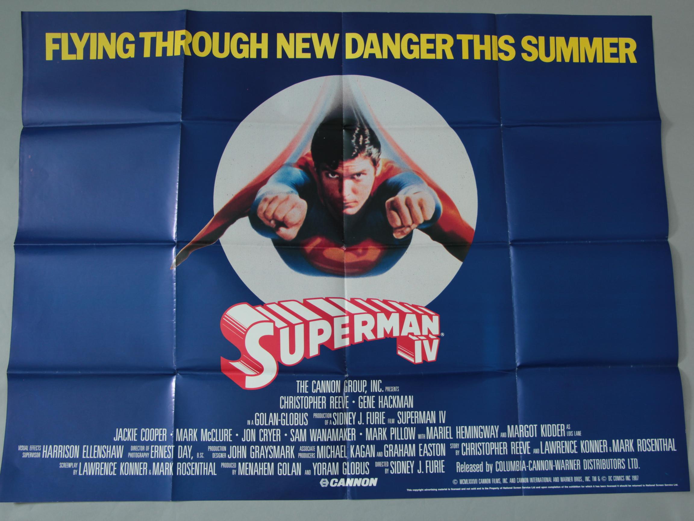 Lot 7 - Eleven British Quad film posters inc Sharkys Machine, Emmanuelle, Superman IV,