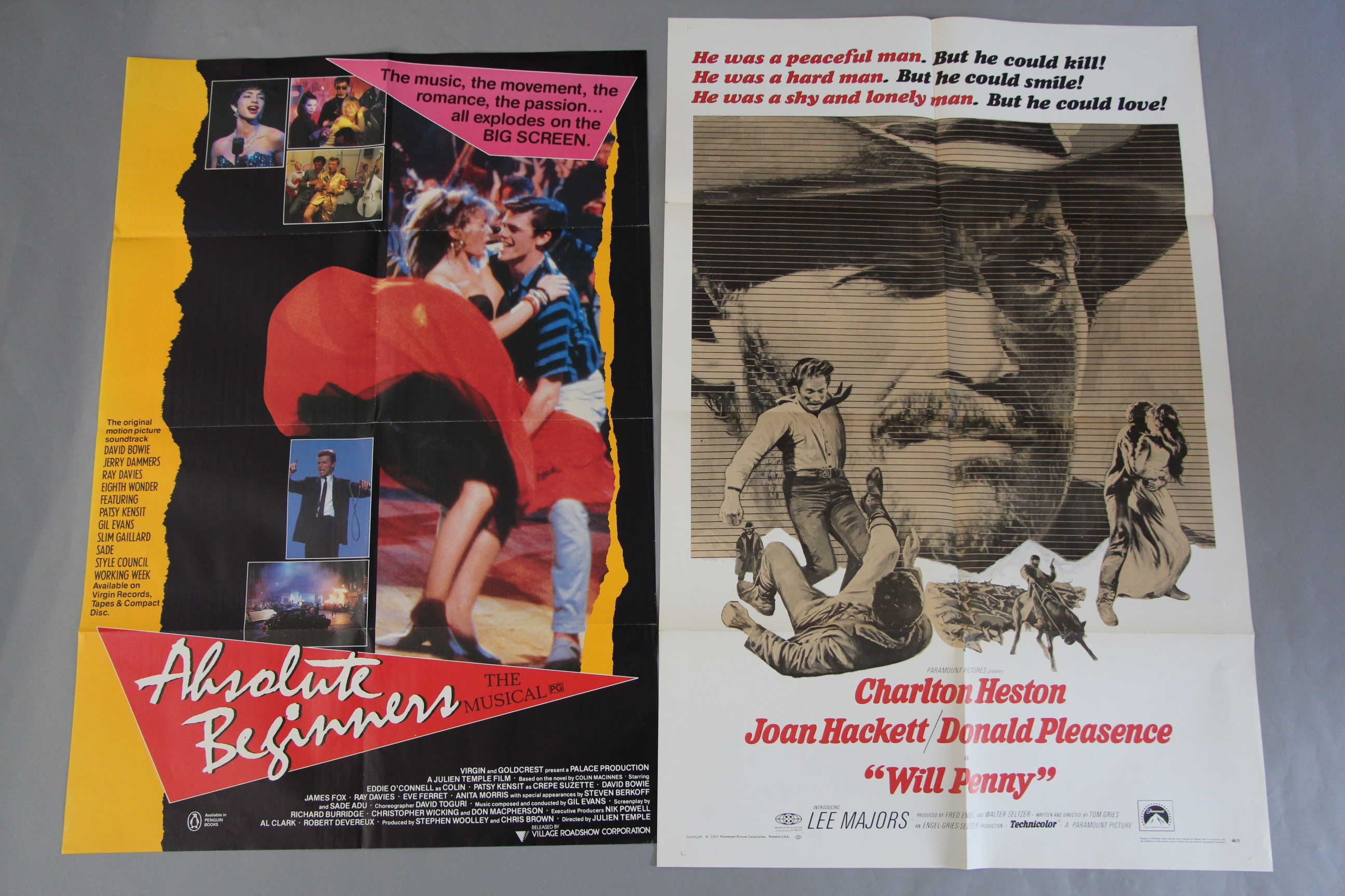 Lot 44A - Twenty Film poster collection including British Quads McQ starring John Wayne and Superman Advance
