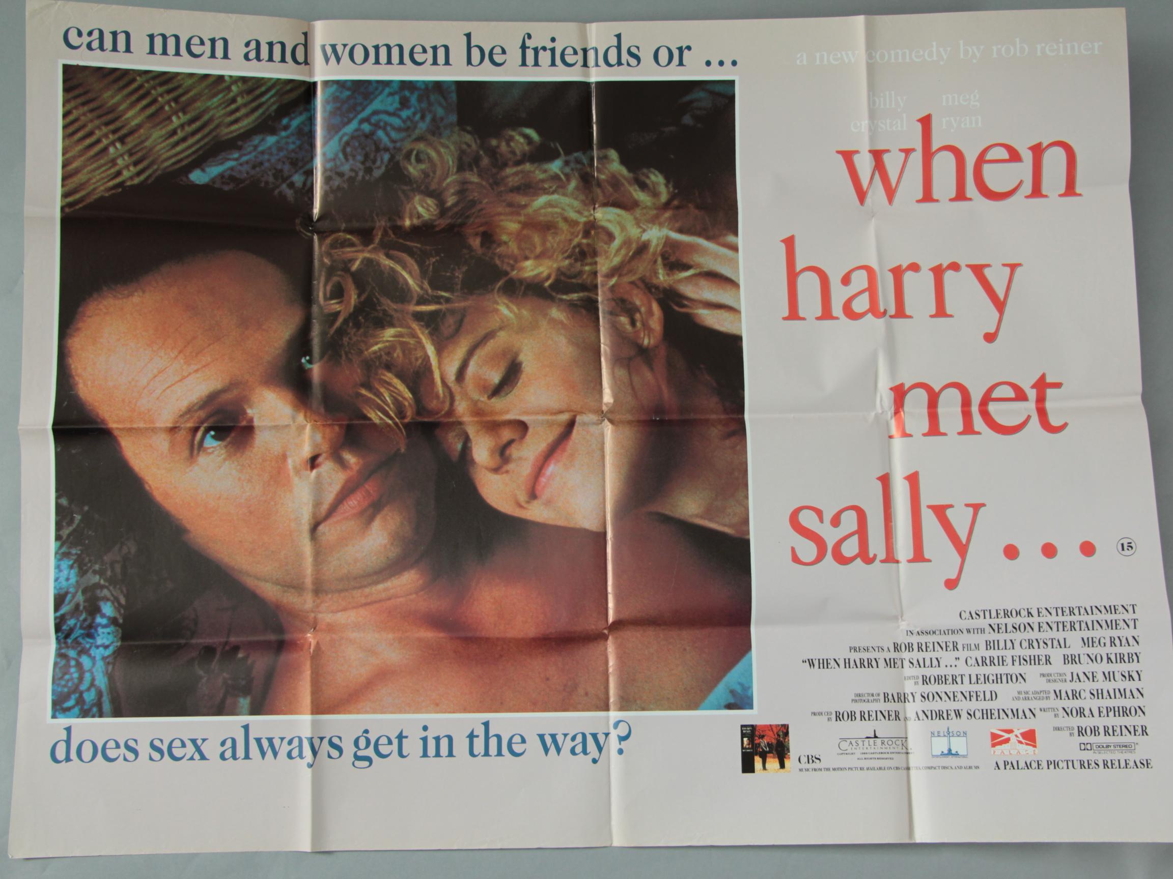 Lot 8 - Ten British film posters plus 1 UK 3 sheet inc Nikita, Mannequin, When Harry Met Sally,