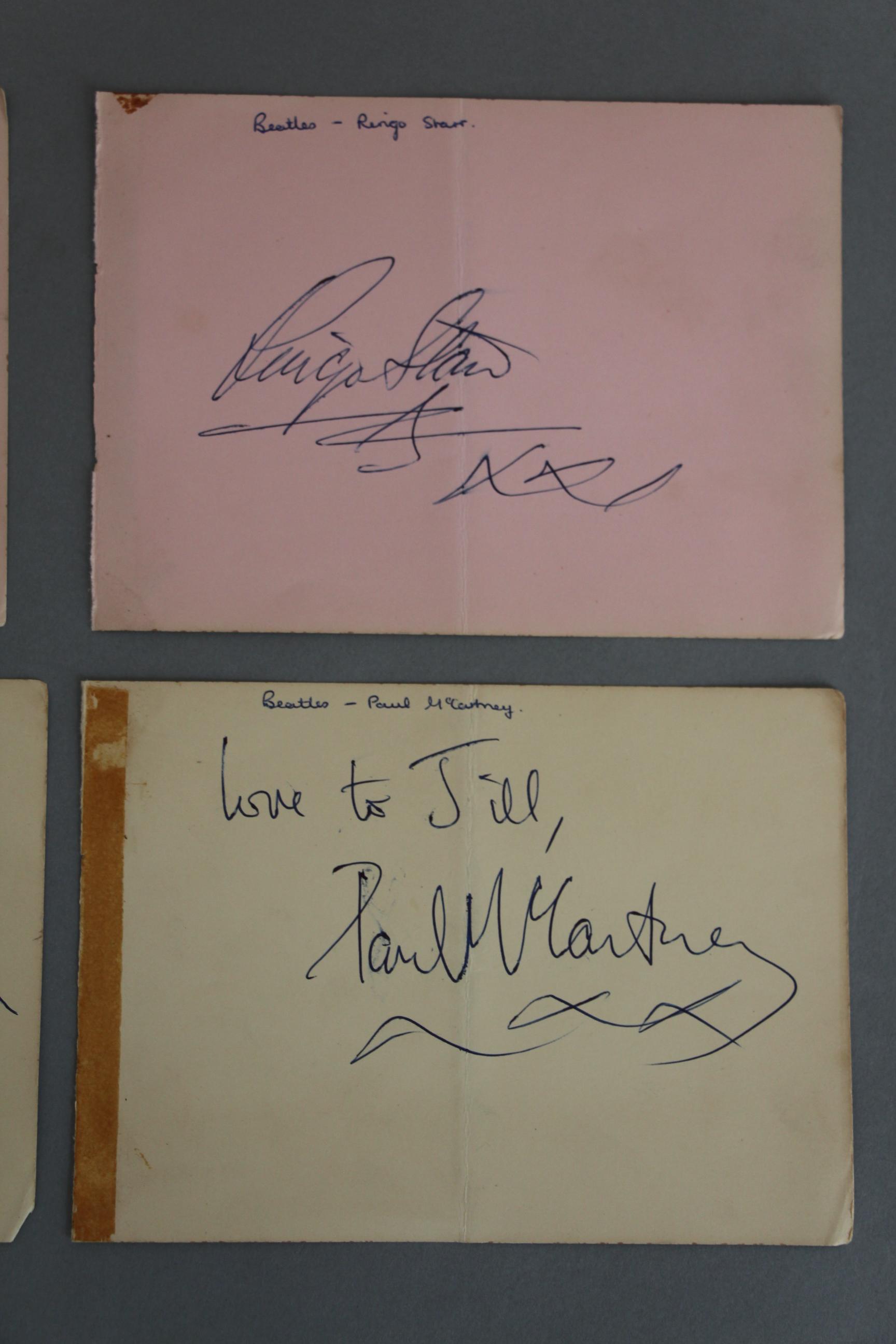 Lot 320 - The Beatles signed Paul McCartney, John Lennon,