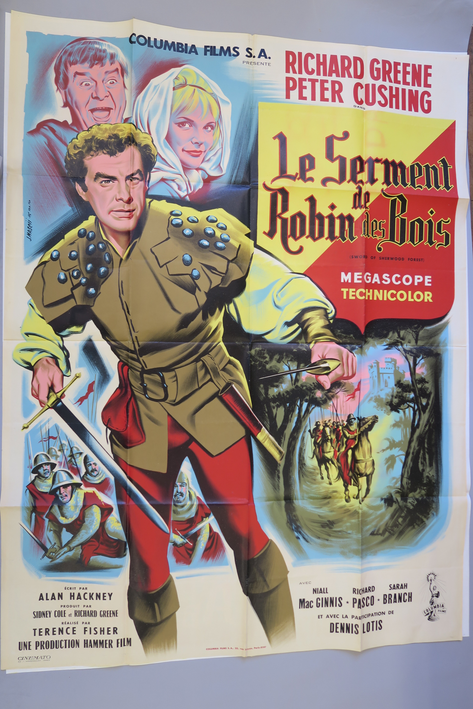 Lot 36 - 6 French Grande film posters inc Quo Vadis with art by Jean Mascii, Fall of the Roman Empire,