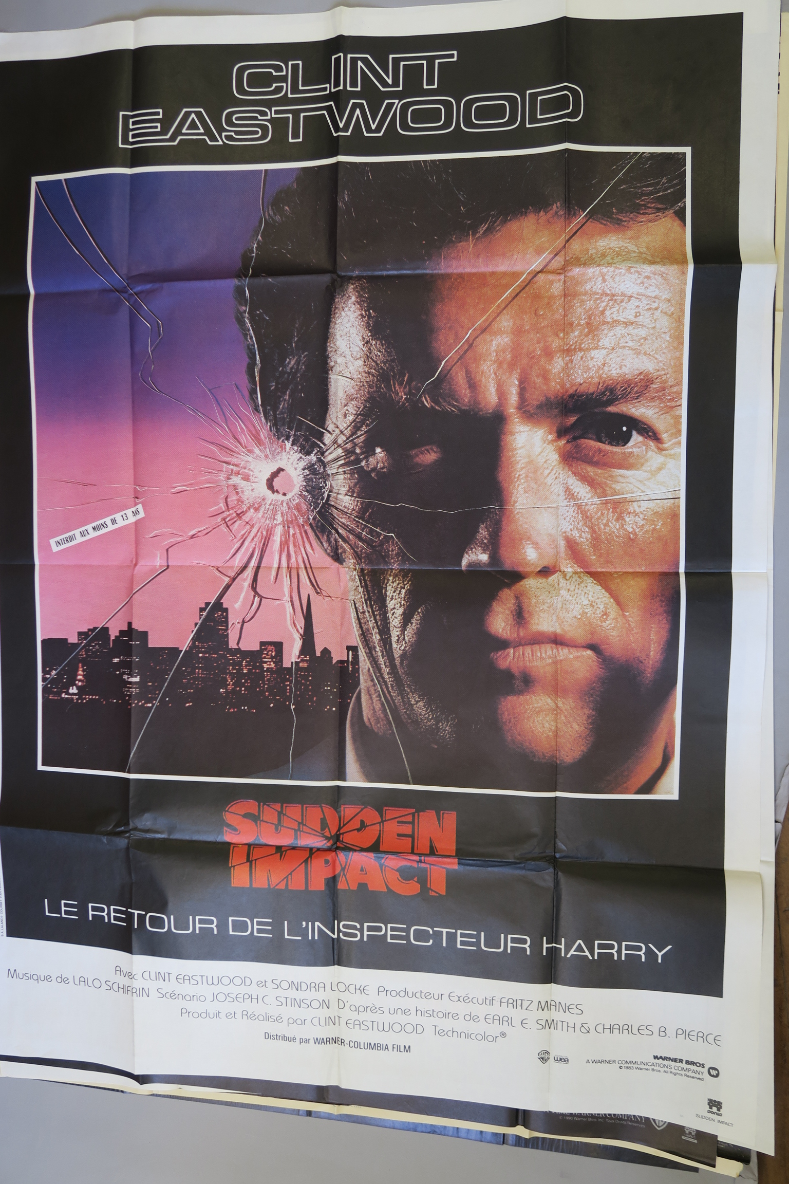 Lot 38 - 15 French Grande film posters inc David Lynch Twin Peaks Fire Walk with me (55 x 39 inch) x2 (style