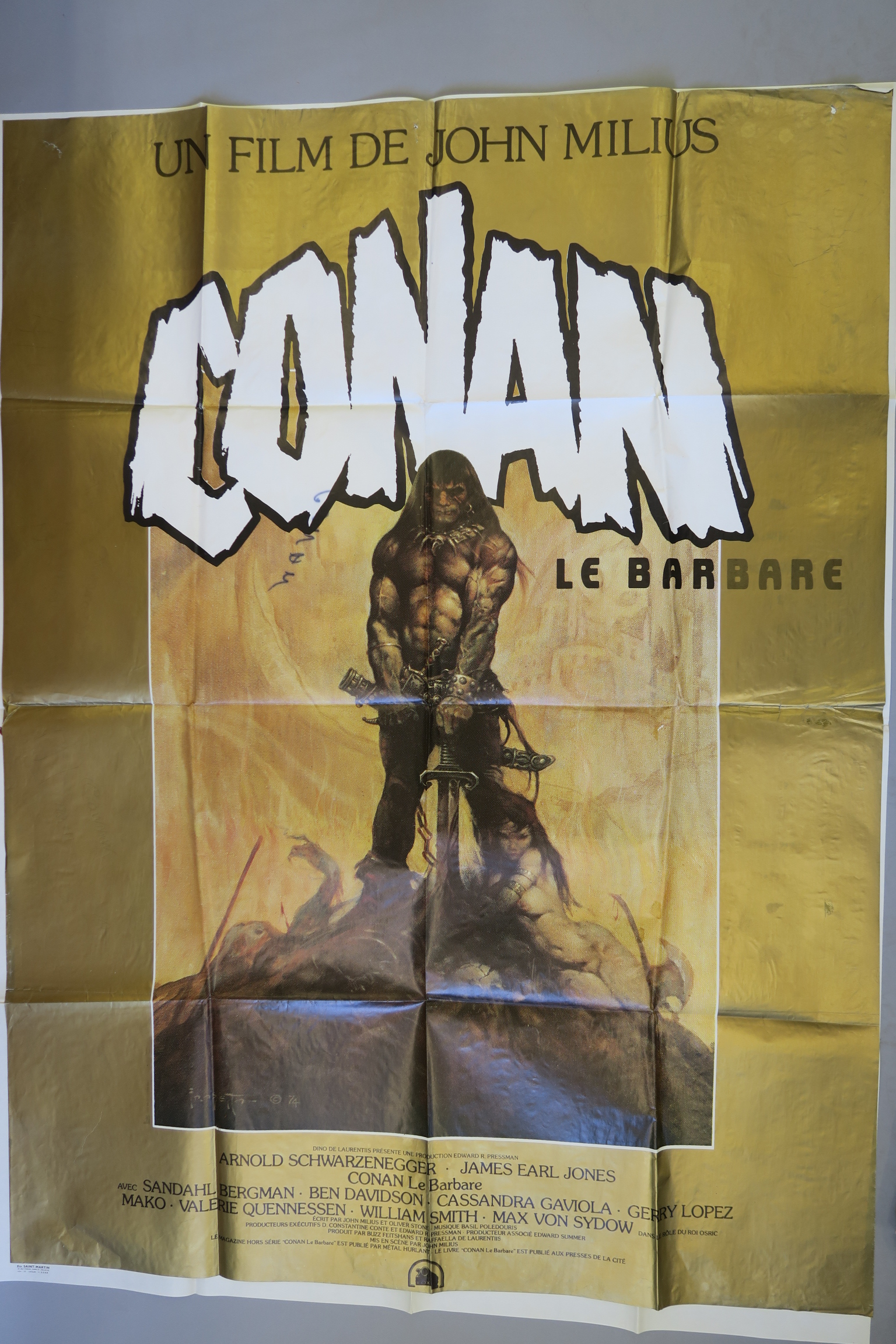 Lot 34 - Collection of 10 French Grande film posters inc The Vengeance of She (Hammer) starring Olinka