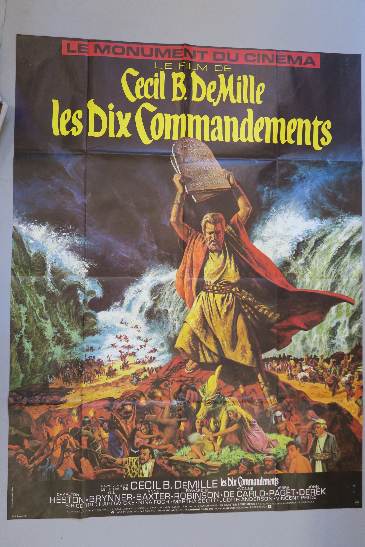 Lot 35 - 4 Charlton Heston French Grandes inc Ten Commandments, Counterpoint with art by Jean Mascii,