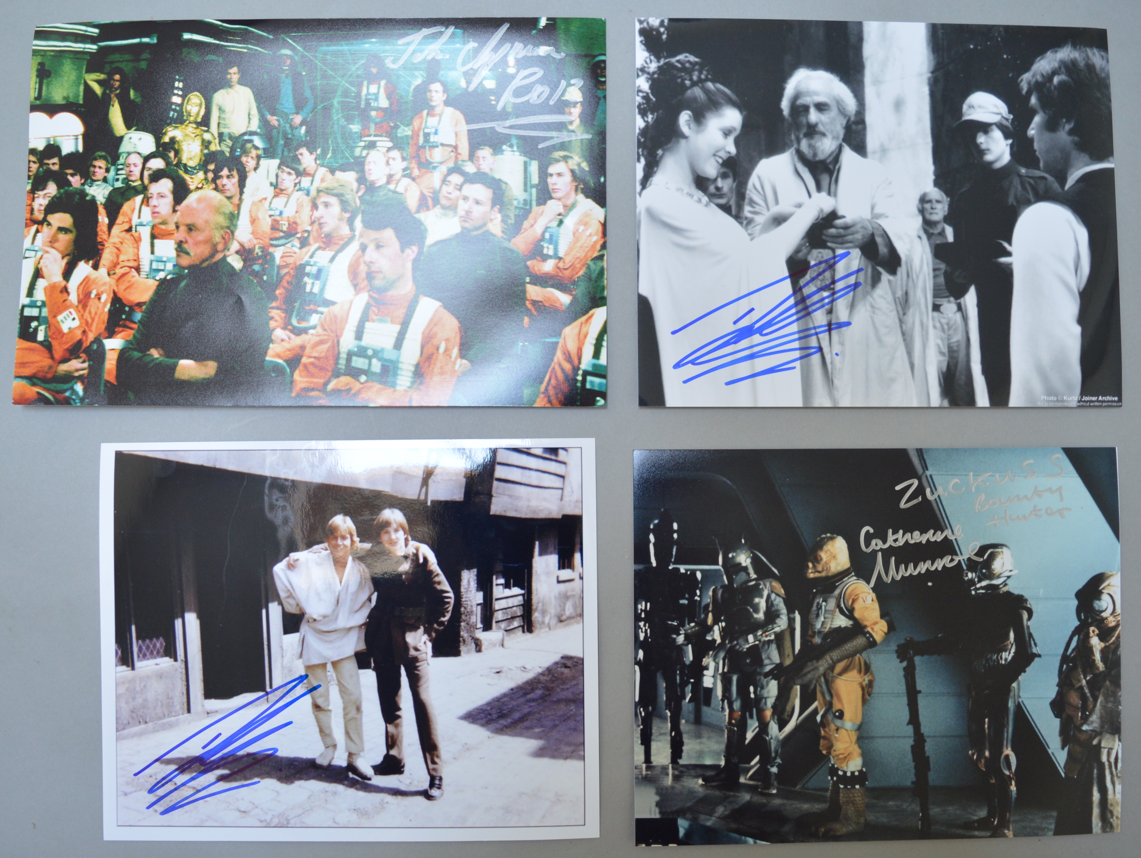 Lot 2 - Four signed Star Wars photos including John Chapman and Catherine Munroe - Zuckuss the Bounty