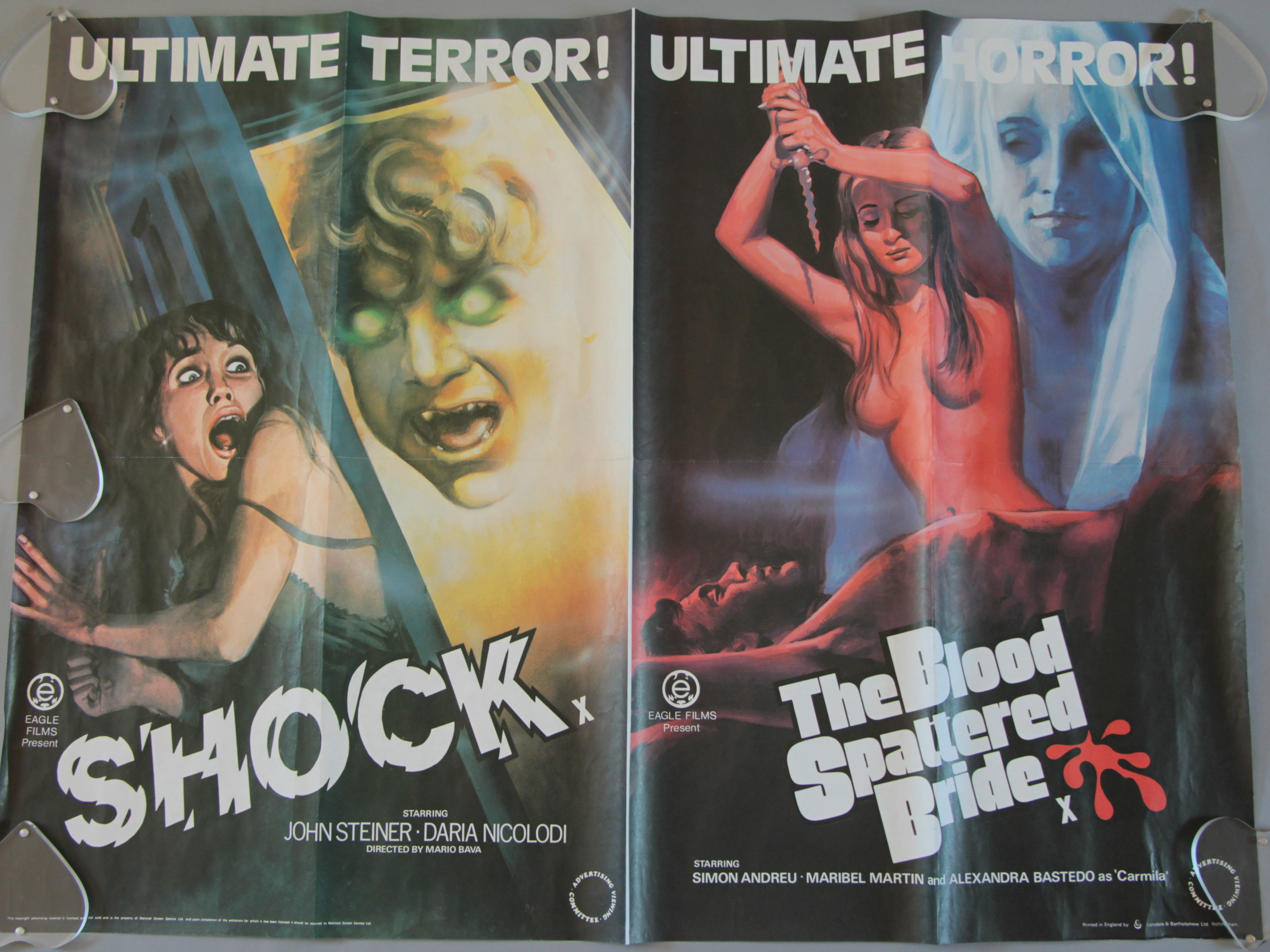 Lot 43 - Three British Quad horror film posters including Assault on Precinct 13 / Halloween John Carpenter