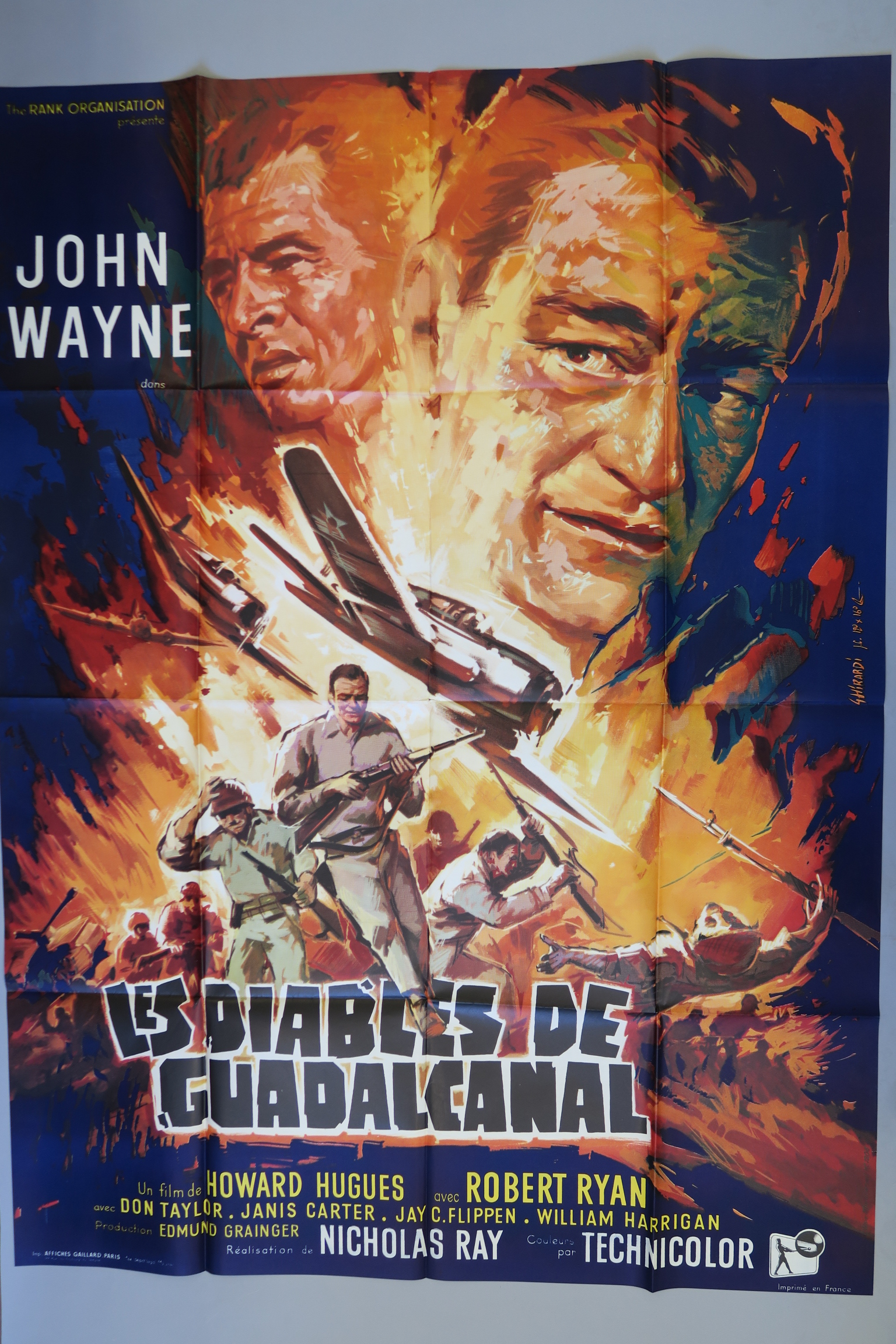 Lot 33 - Collection of 7 War & Western French Grandes inc Flying Leathernecks starring John Wayne directed