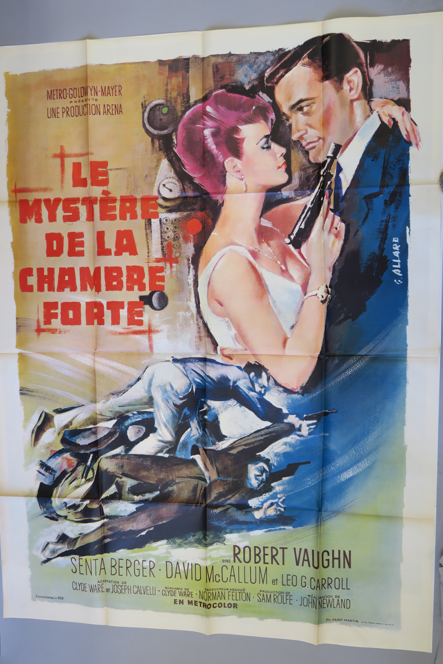 "Lot 32 - Man from Uncle French Grande film poster for ""One of our Spies is Missing"" with a finely painted"