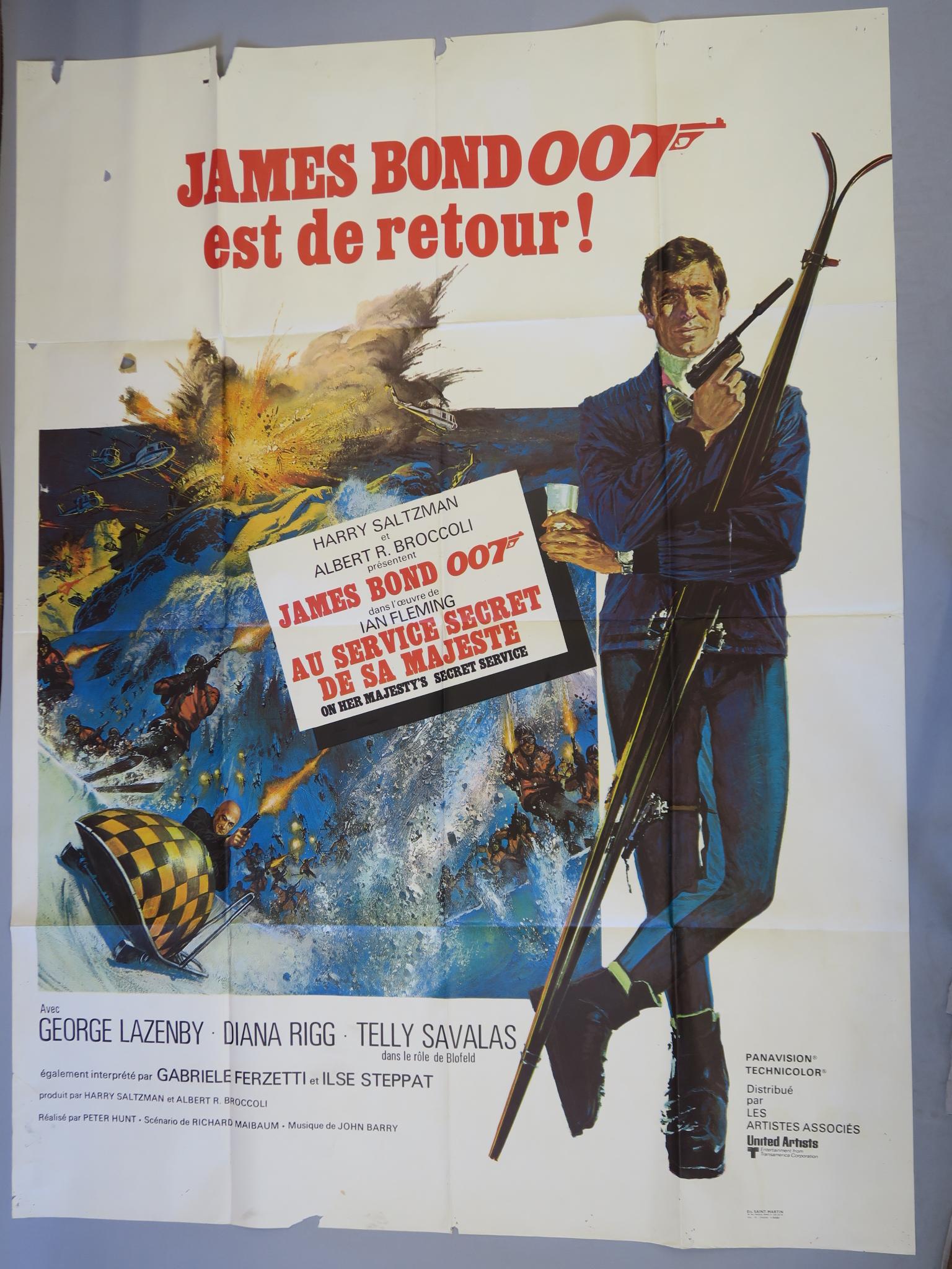 Lot 28 - On Her Majesty's Secret Service James Bond Original French grande film poster starring George