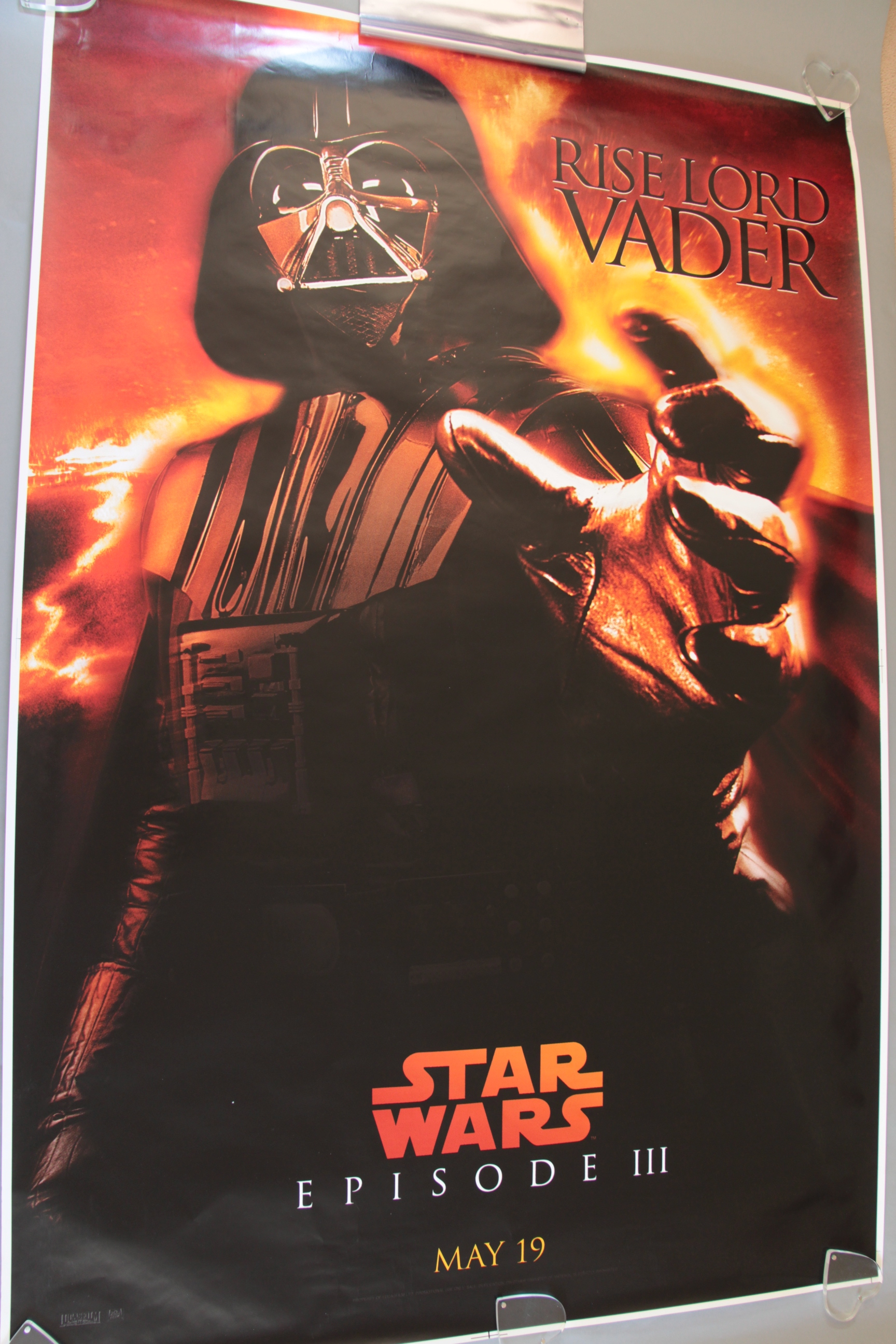 Lot 45 - Star Wars large cinema bus shelter posters inc Star Wars Episode II & III rolled condition