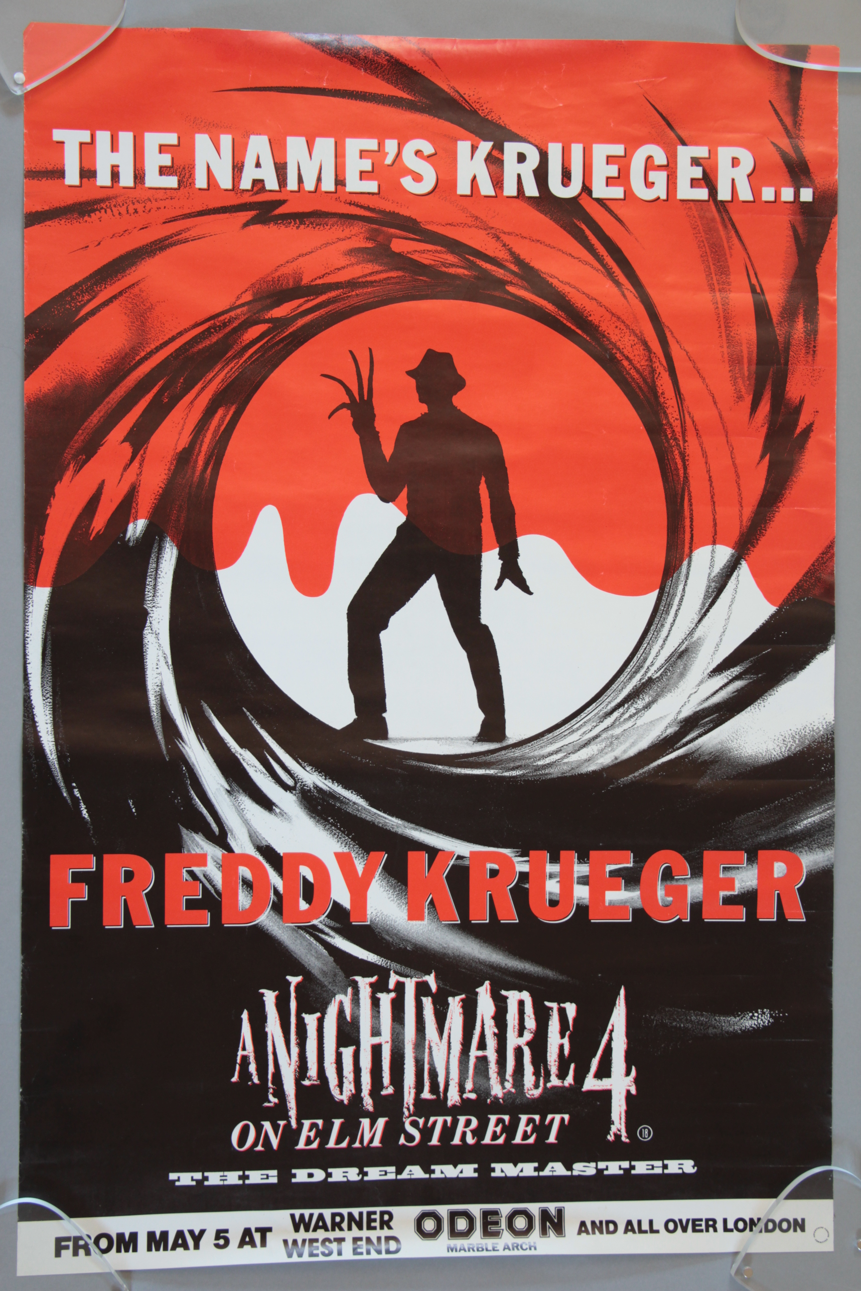 Lot 41 - A Nightmare on Elm Street 4 Freddy Krueger as James Bond style rolled Excellent condition British
