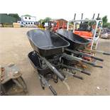 4X HEAVY DUTY WHEELBARROWS