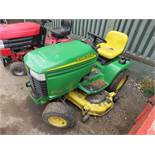 JOHN DEERE GT235 RIDE ON MOWER YR2003 when tested was seen to start, run and drive
